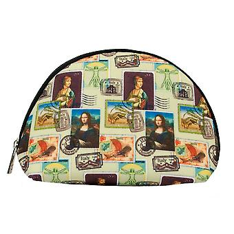 Da vinci stamp design cosmetic bag by signare tapestry / cosm-dvinc