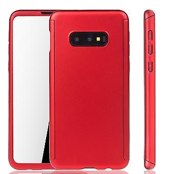 Samsung Galaxy S10e Funda de protección del teléfono Cubierta completa de la lámina de protección del tanque rojo