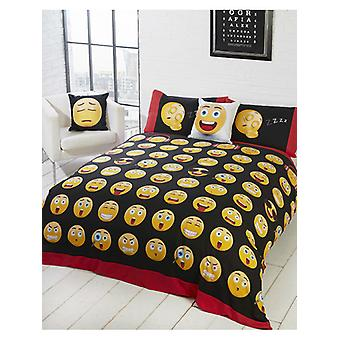 Emoji Icons Duvet Cover and Pillowcase Set