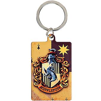 Harry Potter Hufflepuff metal nøglering
