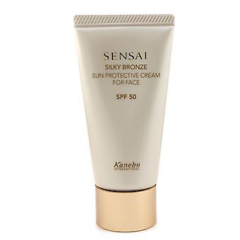 Kanebo Sensai Silky Bronze Schützende Sonnencreme für Gesicht SPF 50 50ml / 1.7oz