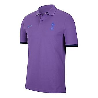 2019-2020 Tottenham Nike Pique Crew Polo Shirt (Purple)