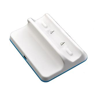 Compatible white wii u gamepad charging cradle dock station - white