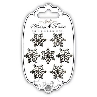Craft Consortium Always & Forever Rhinestone Embellishments-Heart Cluster AFCHRM10