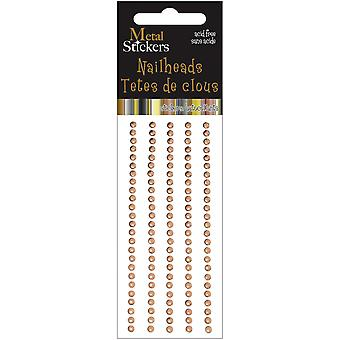 Metal Stickers Nailheads 3Mm Round 125 Pkg Brass 38Ms3mm 3893