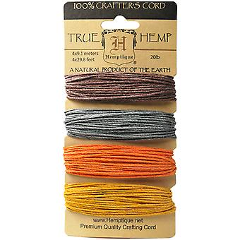 Hemp Cord 20# 30 Feet Color 4 Colors Pkg Harvest Hc200 Har