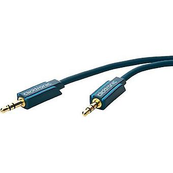 Jack Audio/phono Cable [1x Jack plug 3.5 mm - 1x Jack plug 3.5 mm] 1.50 m Blue gold plated connectors clicktronic