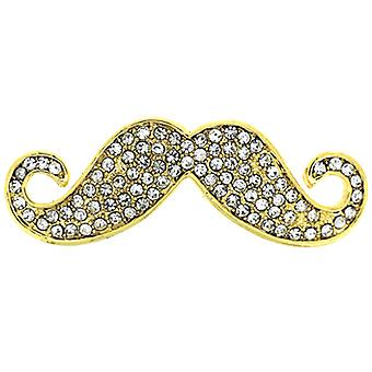Broche Moustache broches Store or & de cristal Messieurs