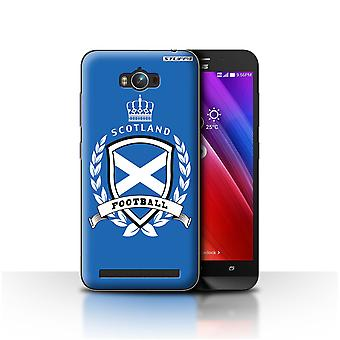 STUFF4 Case/Cover for Asus Zenfone Max ZC550KL/Scotland/Scottish/Football Emblem