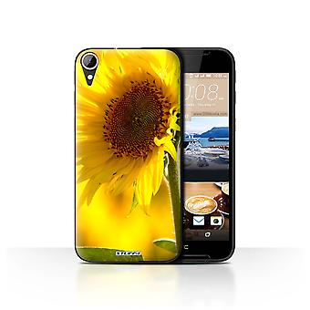 STUFF4 Case/Cover for HTC Desire 830/Yellow Flower/Floral Garden Flowers