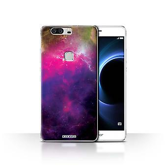 STUFF4 Case/Cover for Huawei Honor V8/Purple Nebula/Space/Cosmos