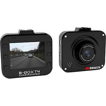 Dashcam Braun Germany B-Box T4 Horizontal viewing angle=120 ° 12 V Battery, Display, Microphone