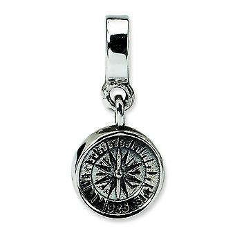 Sterling Silber Reflexionen Kompass Dangle Bead Charm
