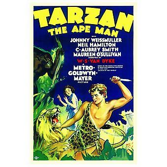 Tarzan The Ape Man Movie Poster Print (27 x 40)