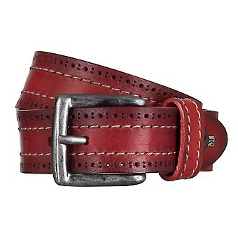 SAKLANI & FRIESE belts men's belts leather belt red 5016