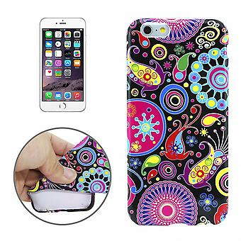 Pouch cellphone cases TPU for phone Apple iPhone 6 colorful plus motif pattern abstract