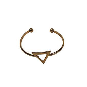 Goudkleurige minimalist chic statement cuff armband met driehoek