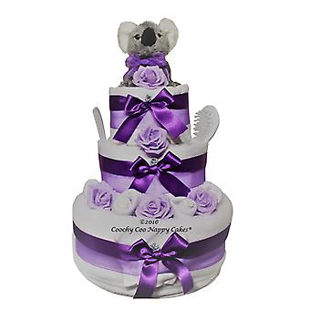 3 Tier Cute Koala Bear Nappy Cake Baby Gift