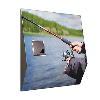 Wireless door bell motif: fishing rod - V2A stainless steel wireless