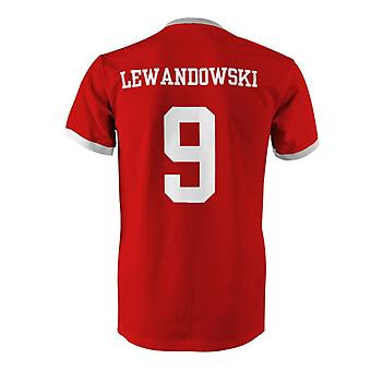 Robert Lewandowski 9 Polen land Ringer T-Shirt