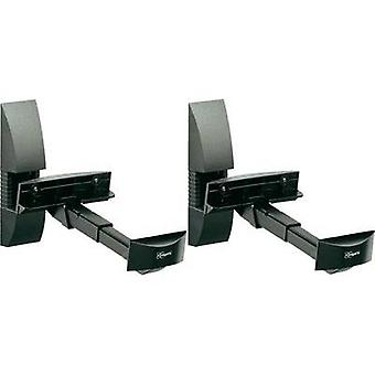 Speaker wall mount Tiltable, Swivelling Distance to wall (max.): 30 cm Vogel´s VLB 200 Black 1 pair