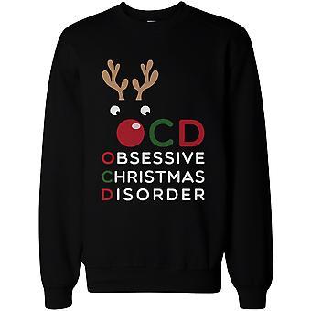 X-Mas OCD Obsessive Christmas Disorder Sweatshirt- Funny Graphic Sweatshirts