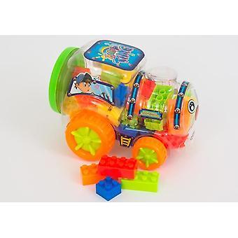 Blocs de plastique Bulding en Train conteneurs avec roues article de cadeau