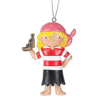 Lille pirat pige Christmas Holiday Ornament 3.25 Inches