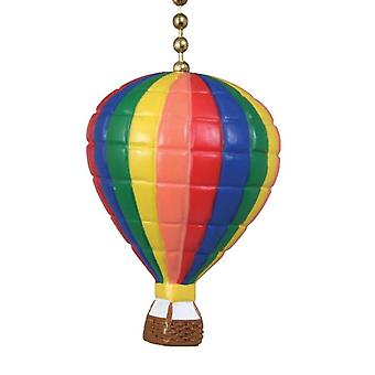 Hot Air Balloon Blue Green Yellow Red Ceiling Fan or Light Pull