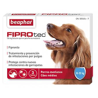 Beaphar 3 Pipettes Fiprotec pour Chiens Moyens 10-20 Kg