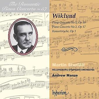 A. Wiklund - Adolf Wiklund: Pianokonsert nr 1 & 2; Konsertstycke [CD] USA import