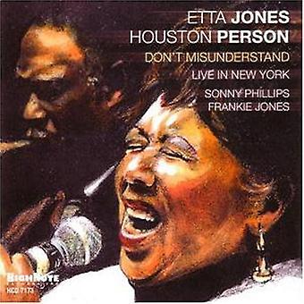 Etta Jones & Houston Person - Don't Misunderstand-Live in New York [CD] USA import