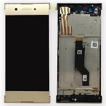 Sony display LCD complete unit with frame for Xperia XA1 and dual gold spare part