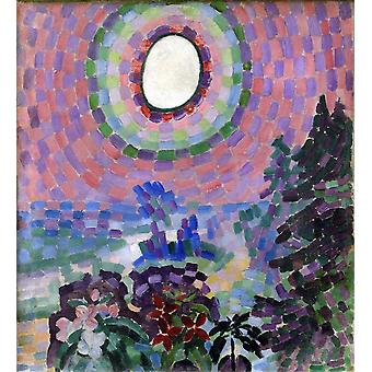 Robert Delaunay - Paysage au Disque Solaire Poster Print Giclee