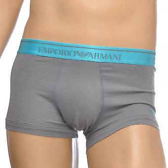 Emporio Armani Fashion Embroidery Stretch Cotton Trunk, Ash Grey, Small