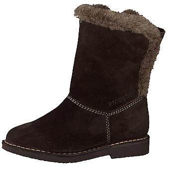 Ricosta Girls Fiona Waterproof Boots Café Brown