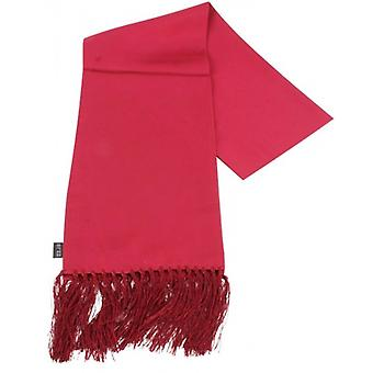 Knightsbridge Neckwear Plain Silk Scarf - Red