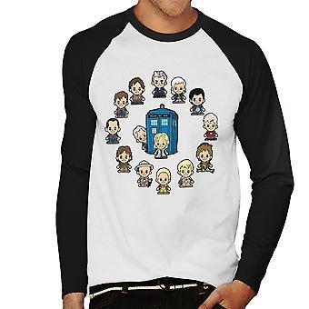 Médico que pouco os médicos beisebol masculino tempo t-shirt de mangas compridas