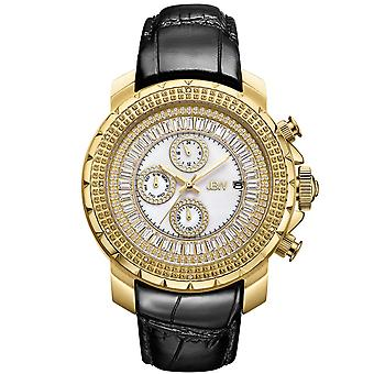 JBW men's diamond watch with Swarovski crystals gold black