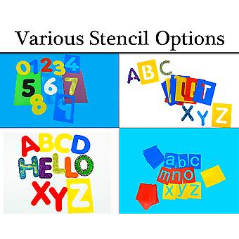 Washable Alphabet Letters and Numbers - Stencils for Kids