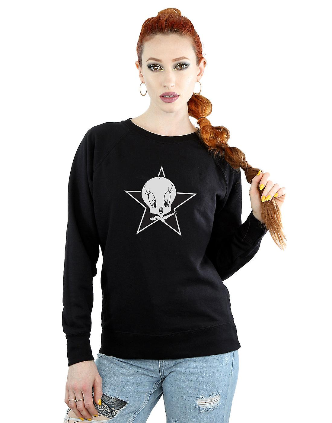 Looney Tunes femmes&s Tweety Pie Mono Star Sweatshirt