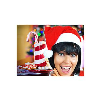 Artículos de temporada Santa sombrero rojo blanco