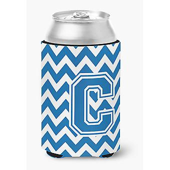 Buchstabe C Chevron blau-weißen Dose oder Flasche Hugger