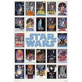 Star Wars dans le monde entier une feuille Compilation affiche Poster Print