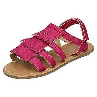 Girls Spot On Sandal With Tassles H0188