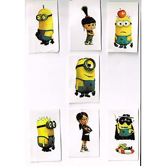 7 X Individually Wrapped Tattoos | DESPICABLE ME MINION | Tattoo Party Bag Temporary Tattoo's