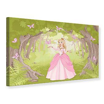 Leinwand drucken Prinzessin im Holz