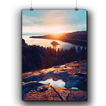 Matte or Glossy Poster with Hill Beautiful Nature | Wellcoda | *q248
