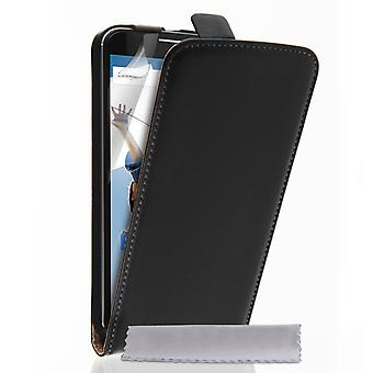 Caseflex Google Nexus 6 Real Leather Flip Case - Black