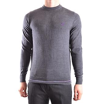 Fred Perry men's MCBI128164O grey Wool Sweater